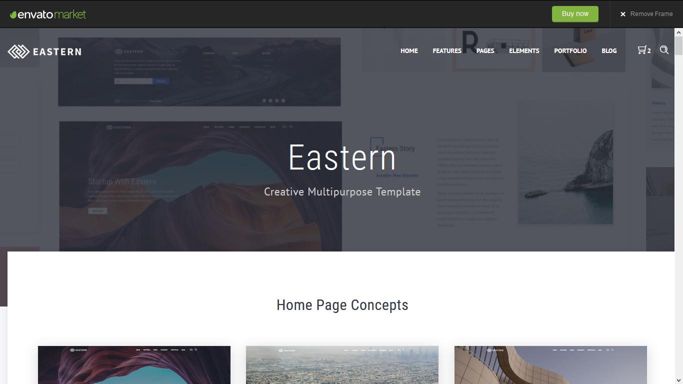 Eastern - Creative Multipurpose Template