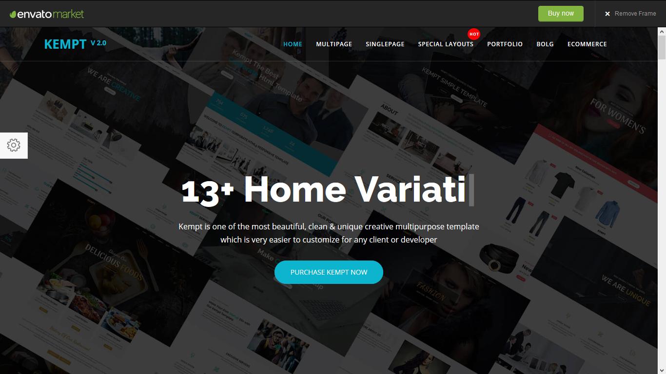 Kempt - Creative Multi Concept HTML5 Template