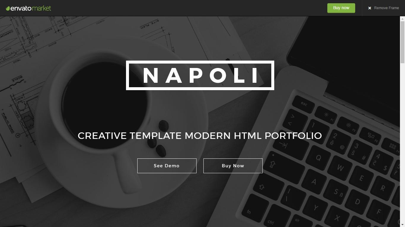 Napoli - One Page Parallax WordPress Themes