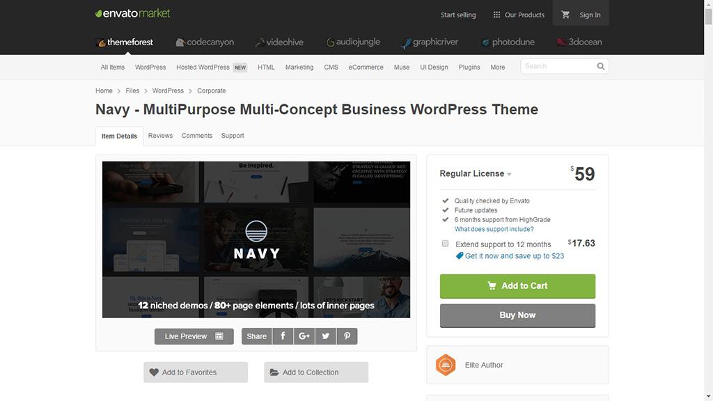 WindCake - OnePage WordPress Theme