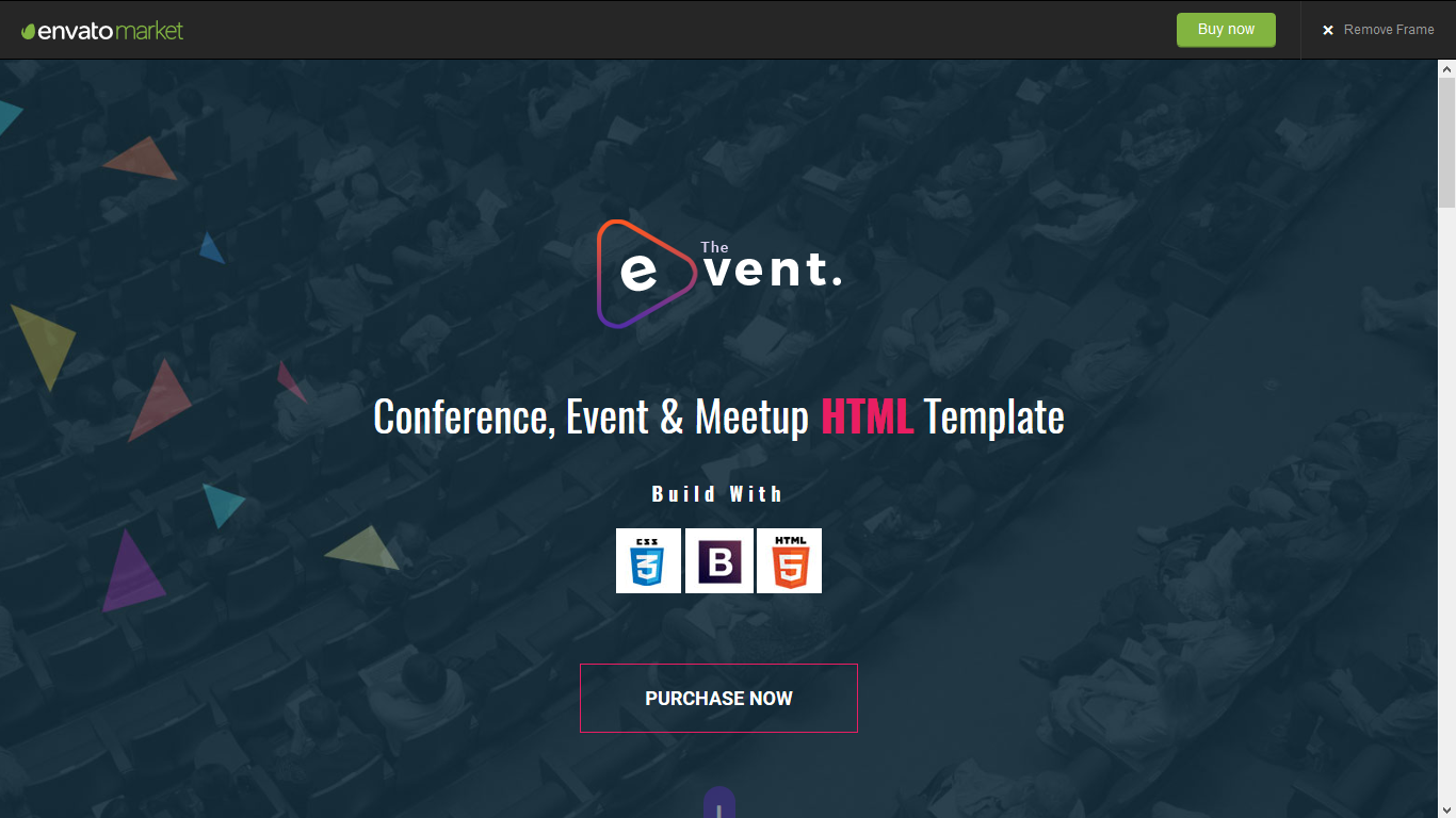 TheEvent - Event & Conference HTML5 Template