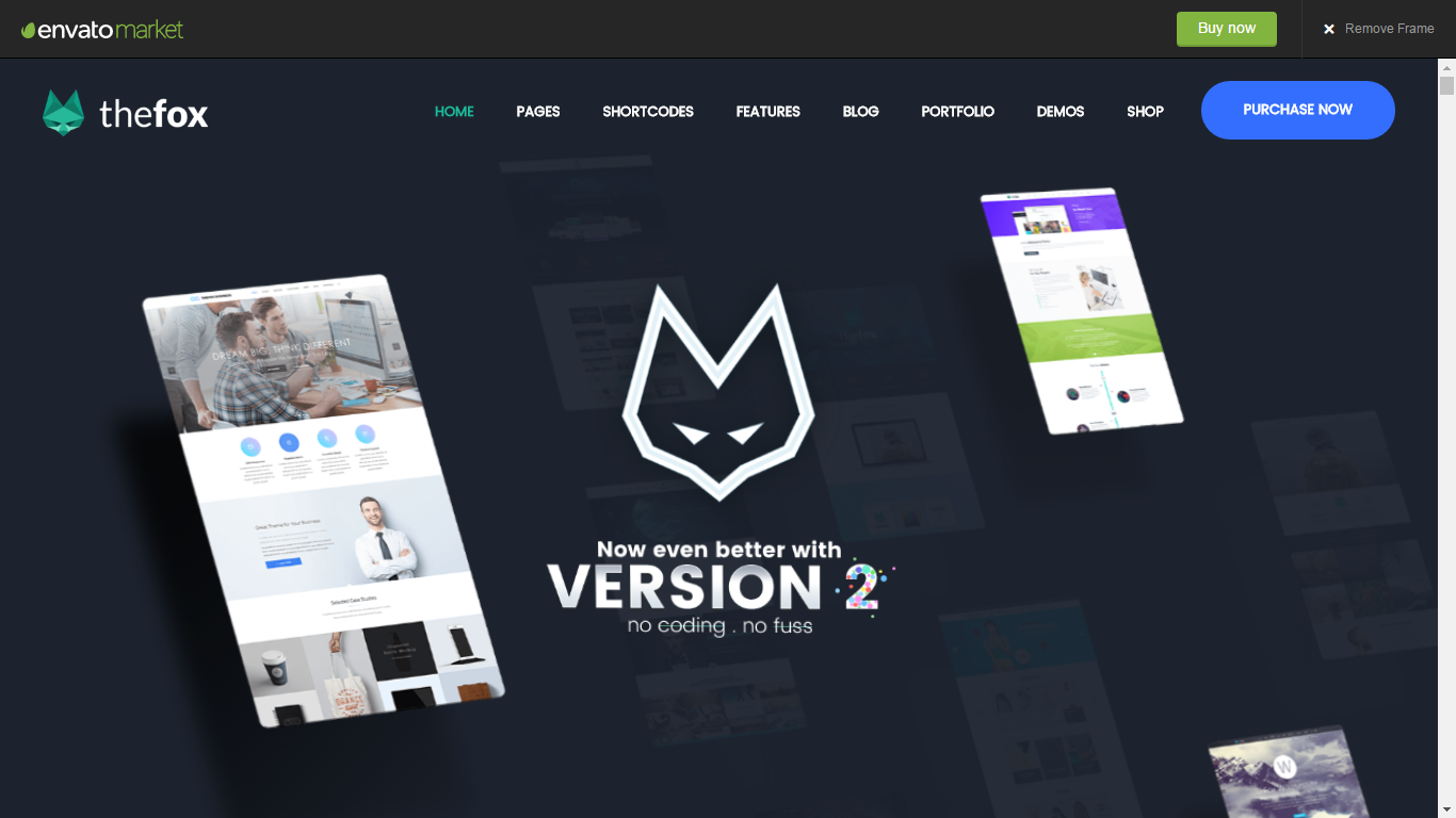 TheFox- Responsive Multi-Purpose WordPress Theme