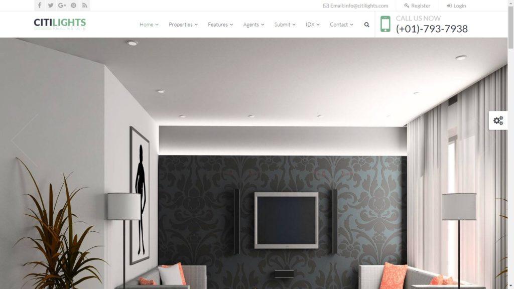 Citi Light Real Estate WordPress Theme.