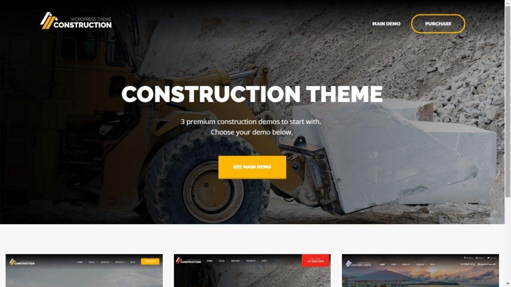 Construction Corporate WordPress Theme