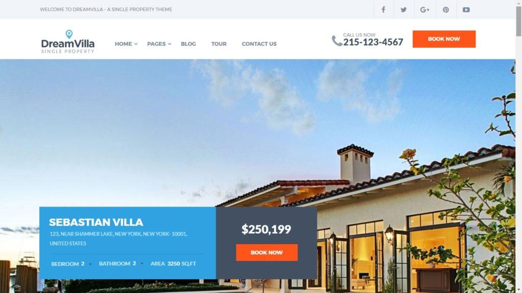 DreamVilla Real Estate WordPress Theme