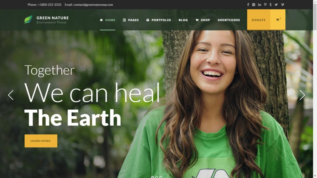 Green Nature Corporate WordPress Theme