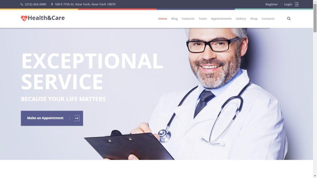 Health and Care WordPress Theme