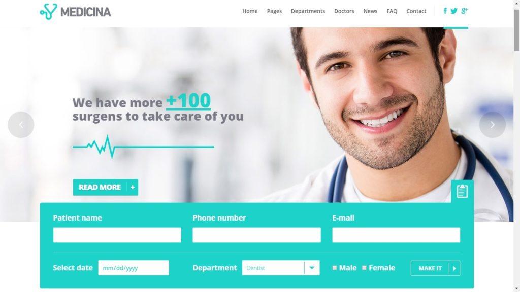 Medicinia WordPress Theme