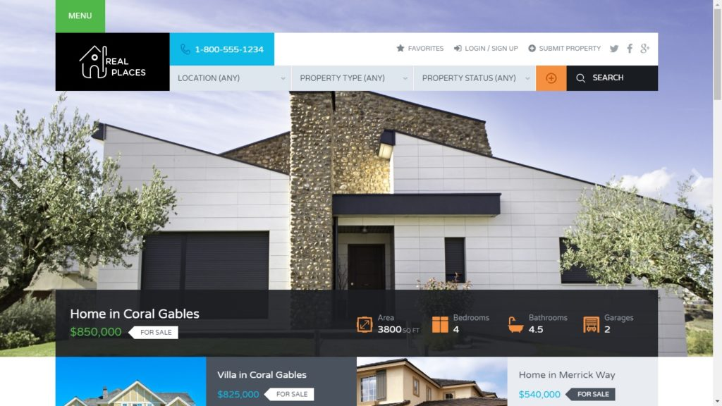 Real Places Real Estate WordPress Theme