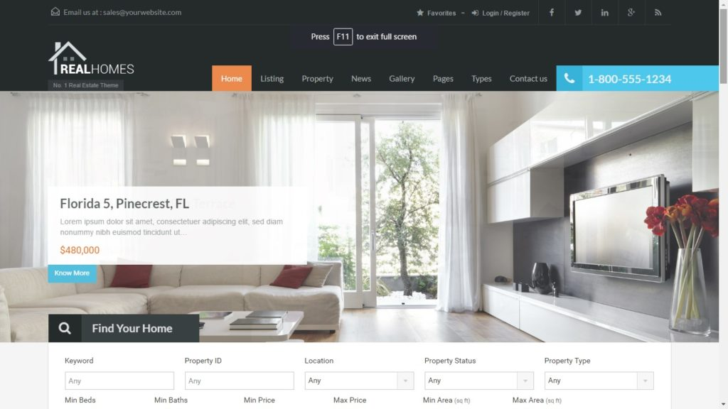 Real Homes Real Estate WordPress theme
