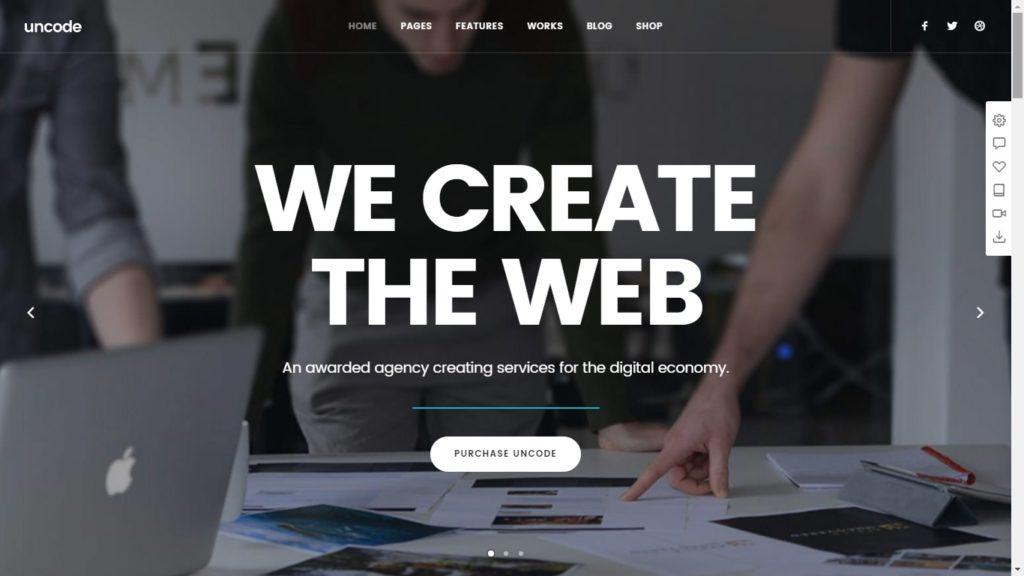Uncode Corporate WordPress Theme