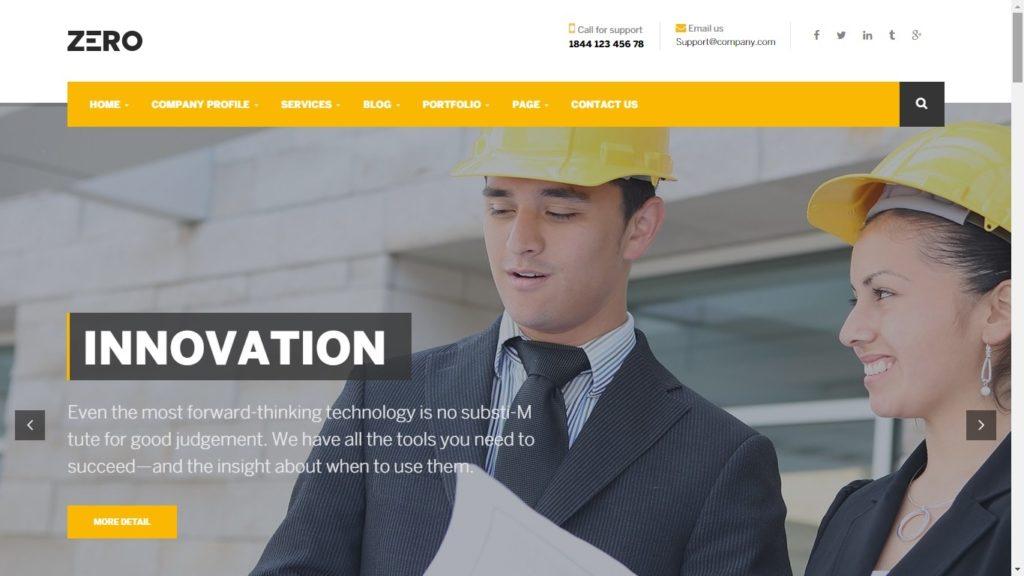 Zero Corporate WordPress Theme